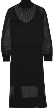 Rag & Bone Dinah Gathered Silk-georgette Midi Dress