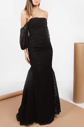 Zac Posen Sleeves Black Lace