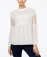 Amy Byer Juniors' Lace Babydoll Top