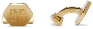Givenchy 4g-engraved Metal Cufflinks - Mens - Gold