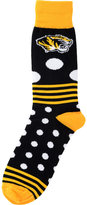 For Bare Feet Missouri Tigers Dots and Stripes Sock