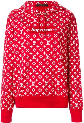 Louis Vuitton Pre Owned x Supreme logo hoodie
