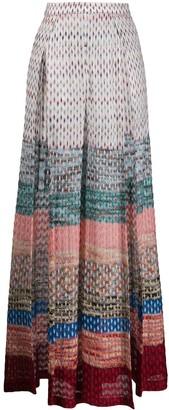 Missoni Mare High-Slit Wide-Leg Knit Trousers