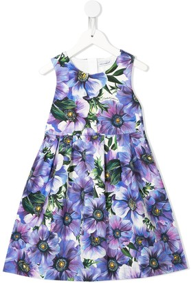 Dolce & Gabbana Kids Anemone print skater dress