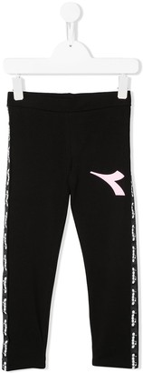 Diadora Junior logo print leggings