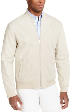 INC International Concepts Inc Men's Washed Denim Bomber Jacket, Created for Macy's