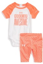 Under Armour Infant Girl's Wake Up Awesome Print Bodysuit & Pants