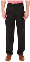 Perry Ellis Portfolio Classic Fit Double Pleat Micro-Melange Pant (Caviar) Men's Casual Pants