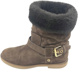 Louis Vuitton \N Brown Suede Ankle boots