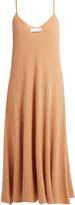 RYAN ROCHE V-neck ribbed-knit cashmere midi dress