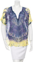 Raquel Allegra Shirred Silk Blouse w/ Tags