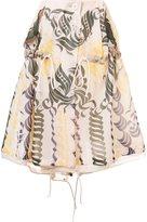 Sacai calligraphy print drawstring skirt - women - Cupro - 2