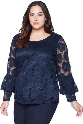 Junarose Women's Plus Size Gin Long Sleeve Blouse