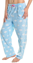 Angelina Blue Cloud Fleece Pajama Pants - Plus Too
