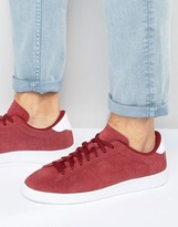 Nike Tennis Classic Cs Suede Trainers In Red 829351-601
