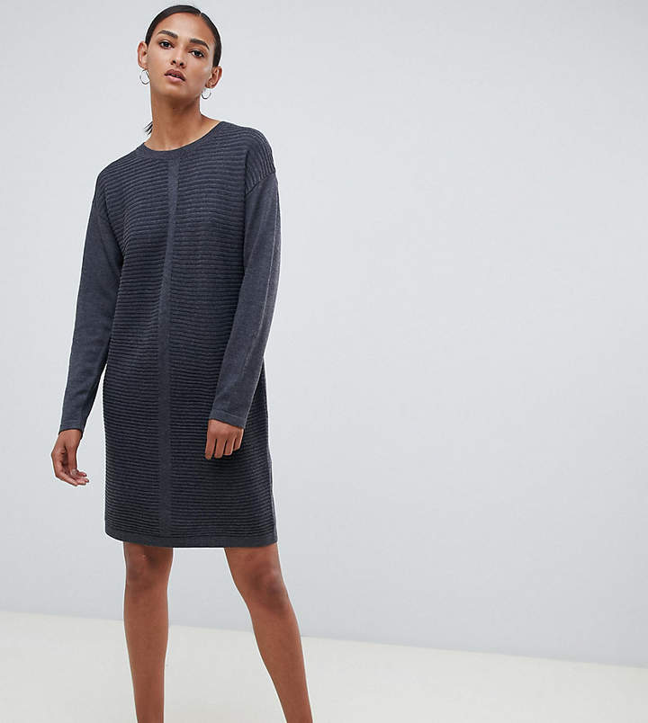 Asos Tall DESIGN Tall eco knitted mini dress in ripple
