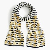 J.Crew Girls' striped metallic heart scarf