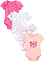 Sweet & Soft Pink & White Stripe & Bear Bodysuit Set - Infant
