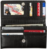 Access Denied RFID Blocking Womens Nappa Leather Accordian Wallet