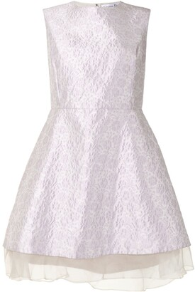 Christian Dior Pre-Owned Floral Jacquard Dress