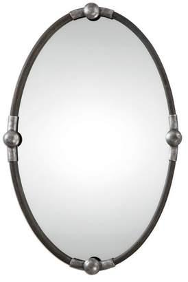 Uttermost Carrick Oval Mirror, Black