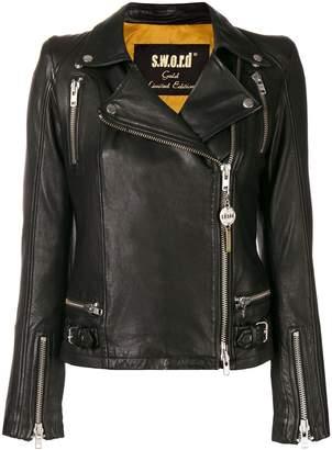S.W.O.R.D 6.6.44 off centre zip jacket