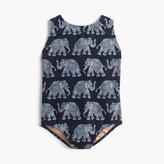 J.Crew Girls' one-piece swimsuit in elephant print