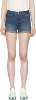 Levi's Levis Blue Denim Wedgie Fit Shorts