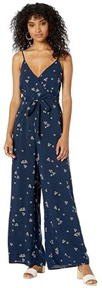 Lost + Wander Primrose Jumpsuit (Navy Floral) Women's Jumpsuit & Rompers One Piece