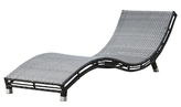 Panama Jack Graphite Curved Chaise Lounge