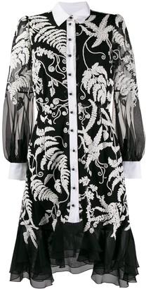 Marchesa lace shirt dress