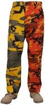 Rothco Two-Tone BDU Pants, Stinger Yellow Savage Orange Camo