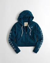 Hollister Graphic Boxy Full-Zip Hoodie