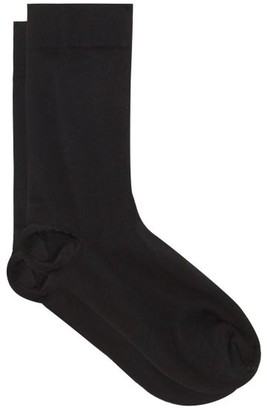 Wolford Cotton-blend Jersey Ankle Socks - Womens - Black