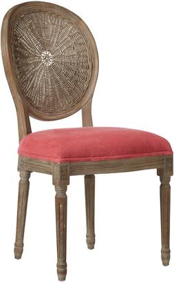 OKA Washakie Linen Dining Chair - Coral