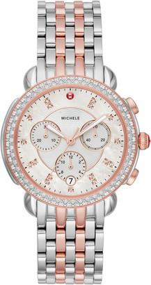Michele Sidney Chronograph Diamond Watch Head & Bracelet, 38mm