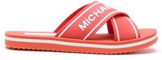 MICHAEL Michael Kors Embossed Logo Slides