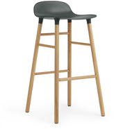 Normann Copenhagen Form Barstool H75cm Green/Oak