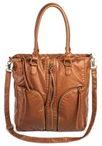 Mossimo Women's Zippered Triple-Handle Tote Handbag