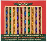 Christopher Radko Shiny Brite Traditional Brights Mixed Diamond Icicles Boxed Ornaments, 12-Pc. Set