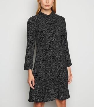 New Look JDY Spot Long Sleeve Shirt Dress