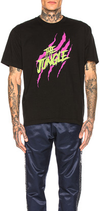 Just Don Jungle Scratch Graphic Tee in Black | FWRD