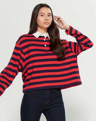 Levi's Striped Rugby Long Sleeve Vernon Polo