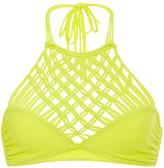 Mikoh Lanikai Halter Woven Bikini Top