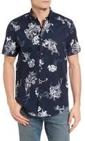 Ben Sherman Men's British Hawaiian Modern Fit Short Sleeve Shirt