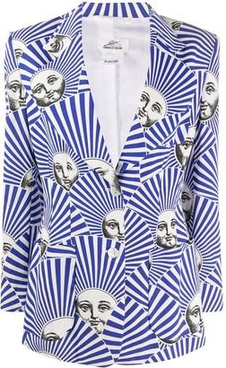 Fornasetti Pre Owned 2000s Striped Face Print Blazer