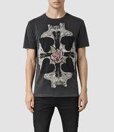 AllSaints Kreuz Crew T-Shirt