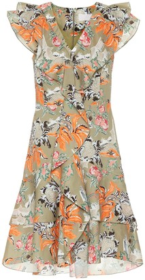Peter Pilotto Ruffled printed cotton minidress