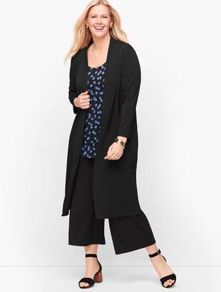Talbots Knit Jersey Open Cardigan