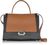 Jil Sander Color Block Leather Refold Top Handle Satchel Bag